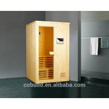 K-717 recién llegado de madera sala de vapor 2 persona sauna habitación sauna baño de madera sala