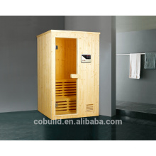 K-717 Spuare corner wooden steam room, traditional sauna room, sauna steam room combination