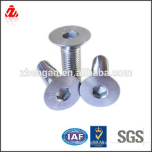 stainless steel Hex socket countersunk head bolt