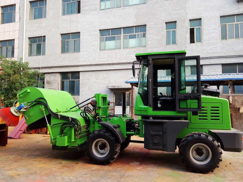 Green Sweeper Truck