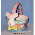 2018 Easter Decorative Ceramic Egg Basket