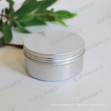 Frasco de parafuso 150ml de alumínio para o empacotamento cosmético