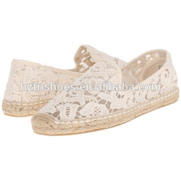 Women Jute Sole Espadrille Shoe Mesh Upper Casual Shoes