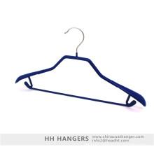 Revestido de plástico Metal perchas superior Ok para ropa pesada