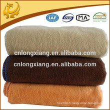All Season Luxurious Big Size Weave Solid Color Blanket 100% Couverture en coton