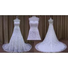 Applizierte Spitze eine Linie Brautkleid Brautkleid