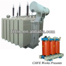 Three phase oil immersed step down transformer