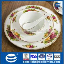 20pcs gorgeous golden household tableware set