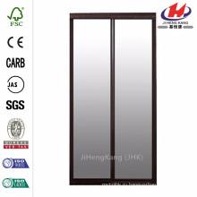 Раздвижная дверь с рамой из омоложенного стекла Fusion Frosted Choco Frame размером 48 дюймов х 80 дюймов