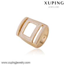 14451 La venta caliente exagera el anillo de dedo plateado oro geométrico de la joyería de las mujeres