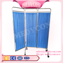 Blue color hospital bed screen curtain folding screen