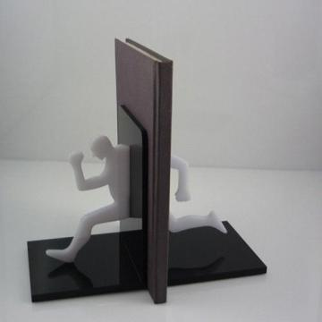 Stylish Black Acryl Bookends, Point of Sale Acryl Buchhalter