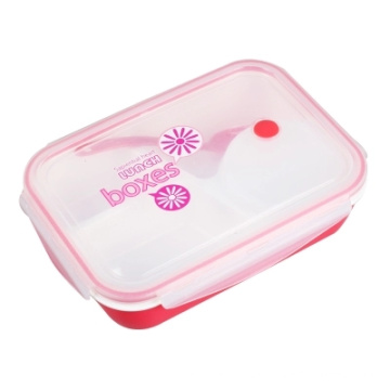Durable and Reusable Transparent Plastic Powder Container with Lid