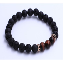 Red Tiger Eye Pärlor Lava Stones Armband