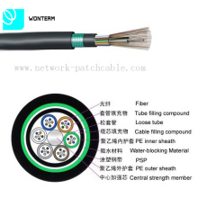 Outdoor 2 ~ 288 Core GYTY53 Câble de fibre optique à échouage à tube libre