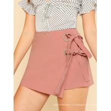Двойной узел спереди перекрываются SkirtManufacture оптом модные женские одежды (TA3101S)