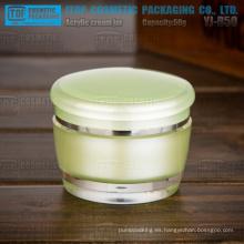 YJ-B serie 15g, 30g, 50g de alta claro envase cosmético de acrílico