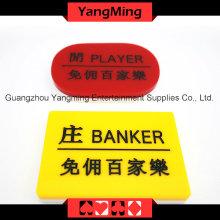 Marker-2 del casino del Baccarat del acrílico (YM-dB03)