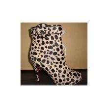 Moda mulheres vestido sapatos botas de mulheres leopardo (hyy02)