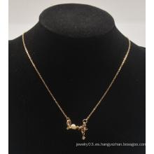 """Día de San Valentín """"Amor"""" con collar de diamantes (XJW13556)"""