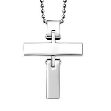 2016 Hdx acero dos piezas cruz joyería colgante