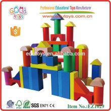 120pcs Jardín de infancia Juguetes Bloques de construcción de madera
