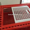 Hohe Qualität Kunststoff Live Huhn Kiste Geflügel Transportkäfig mit PP oder PE oder HDPE