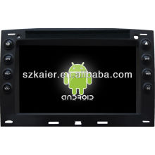 Reprodutor de DVD do carro do sistema de Android para Renault Megane com GPS, Bluetooth, 3G, iPod, jogos, zona dupla, controle de volante