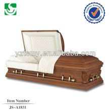 American semi gloss custom painted decorated casket