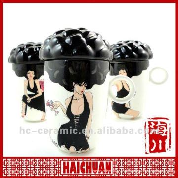 Ceramic sexy girl color changing cup, sexy girl mug