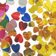 Paillettes en forme de coeur