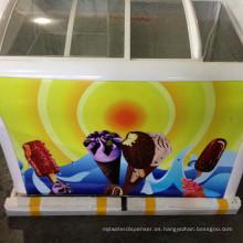 Congelador de la exhibición para el refrigerador del cofre del helado del supermercado refrigerador de la puerta deslizante