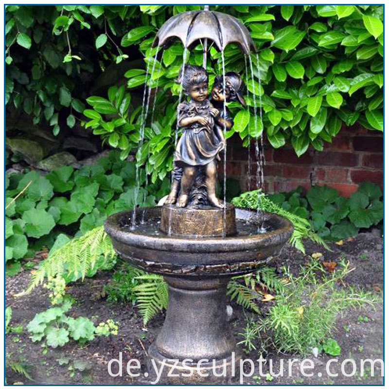 bronze children fountain