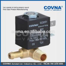 "Latón agua válvula de aceite de aire directa actuando 2 vías electrodomésticos pequeños electroválvula normal cierre 220V 1/8 """