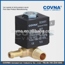 Brass water air oil valve direct acting 2 way small home appliances solenoid valve normal close 220V 1/8""