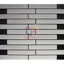 White Strip Cracked Ceramic Mosaic (CST157)