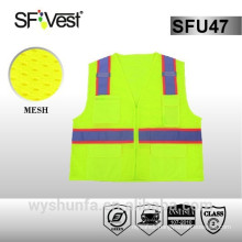 security and safety equipment high visibility Multicolor traffic reflective vest with durable pocket