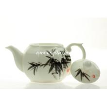250 ml de pot de thé en céramique octogonale en bambou