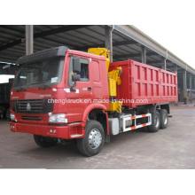 Camion à benne Sinotruk HOWO 6X4 avec grue XCMG 10t