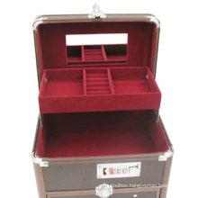2014 Newest Portable Handle Makeup Storage Case