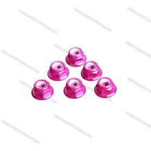 2018 Neue Ankunft rosa farbe M5 low profile CW CCW Flanschmutter für RC spielzeug