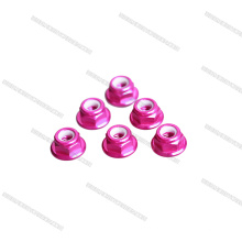 2018 New Arrival pink color M5 low profile CW CCW Flange Nut for RC toy
