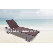 Handcraft Wicker Sun Lounge Beach Bed Outdoor Furniture