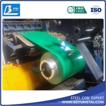 Bobina de acero prepintada de 0.13-0.8mm ASTM A653 PPGI PPGL