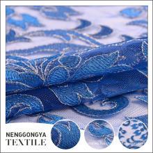 Nueva llegada Diseñador tul malla nueva tela de bordado química