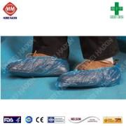 Disposable plastic shoe cover