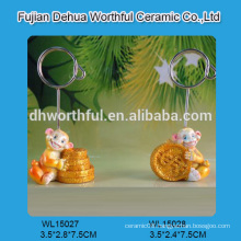 Novel polyresin animal card holder for factory direct sales
