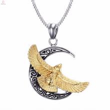 Colgante personalizado Gold Crescent Jewelry en forma de media luna