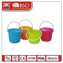 plastic bucket w/lid 3L