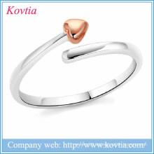 Neue Produkte 2016 offenes Herz verstellbare Ringe Silber Lacie Herz 925 Silber Ringe